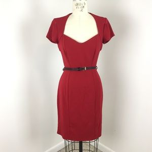 Closet London Modcloth Wiggle Dress 6 Red Pin Up